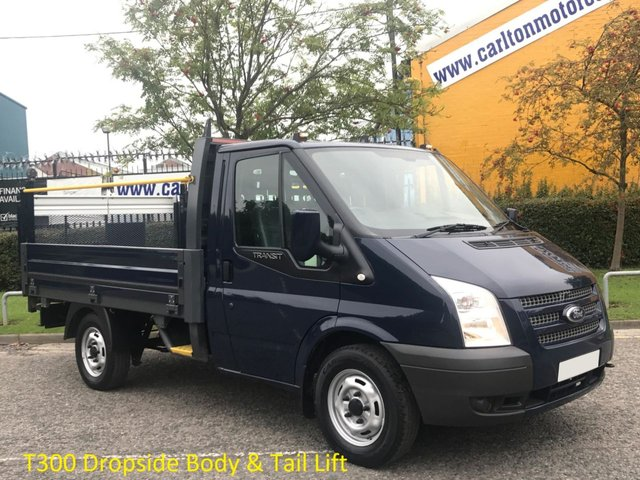 2013 63 FORD TRANSIT 100 T300 SWB Dropside+Tailift Alloy body Low Mileage Ex Lease SRW Delivery TBA