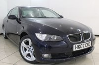 USED 2007 07 BMW 3 SERIES 3.0 325D SE 2DR 195 BHP FULL SERVICE HISTORY + CLIMATE CONTROL + CRUISE CONTROL + MULTI FUNCTION WHEEL + ALLOY WHEELS
