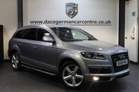 USED 2009 09 AUDI Q7 3.0 TDI QUATTRO S LINE 5DR AUTO 234 BHP + FULL SERVICE HISTORY + HALF BLACK LEATHER INTERIOR + SATELLITE NAVIGATION + HEATED SPORT SEATS + BLUETOOTH + CRUISE CONTROL + 7 SEATS + PARKING SENSORS + 20 INCH ALLOY WHEELS +