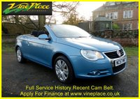 USED 2008 57 VOLKSWAGEN EOS 2.0 TDI 2d 138 BHP +LOVELY EOS WITH FULL HISTORY+RECENT CAM BELT+