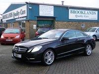 2013 MERCEDES-BENZ E CLASS 2.1 E220 CDI BLUEEFFICIENCY SPORT 2d AUTO 170 BHP £15995.00