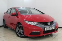 USED 2013 13 HONDA CIVIC 1.8 I-VTEC TI 5DR 140 BHP SERVICE HISTORY + MULTI FUNCTION WHEEL + 6 SPEED + CLIMATE CONTROL + ALLOY WHEELS