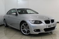 USED 2007 57 BMW 3 SERIES 2.0 320I M SPORT 2DR 168 BHP FULL SERVICE HISTORY + CRUISE CONTROL + CLIMATE CONTROL + PARKING SENSORS + MULTI FUNCTION WHEEL + ALLOY WHEELS
