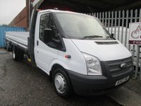 2013 FORD TRANSIT 350 EF 13ft6 One Stop Alloy Dropside 125PS £12995.00