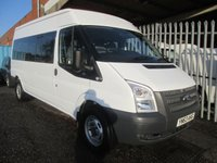 2013 FORD TRANSIT 350 14 Seat Minibus 2.2 TDCi 135PS *ONE OWNER* £12495.00