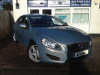 USED 2011 11 VOLVO S60 D3 SE 53K FSH 17' ALLOYS. SAT / NAV. HEATED LEATHER. AIR / CON. SUNROOF.