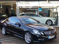 2010 MERCEDES-BENZ E CLASS 3.0 E350 CDI BLUEEFFICIENCY SPORT 2d AUTO 231 BHP £13995.00