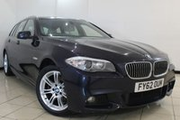 USED 2012 62 BMW 5 SERIES 2.0 520D M SPORT TOURING 5DR 181 BHP FULL SERVICE HISTORY + CLIMATE CONTROL + SAT NAVIGATION + BLUETOOTH + ALLOY WHEELS