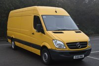 USED 2011 61 MERCEDES-BENZ SPRINTER 2.1 313 CDI  5d 129 BHP LWB HIGH ROOF DIESEL MANUAL VAN  ONE OWNER,FSH,MOT EXPIRES 03/11/2017,AIR CON