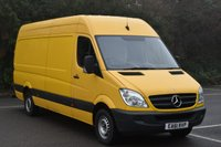 USED 2011 61 MERCEDES-BENZ SPRINTER 2.1 313 CDI 5d 129 BHP LWB HIGH ROOF DIESEL MANUAL VAN  ONE OWNER,FSH,MOT EXPIRES 12/10/2017,AIR CON