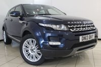 USED 2013 13 LAND ROVER RANGE ROVER EVOQUE 2.2 SD4 PRESTIGE LUXURY 5DR 190 BHP SERVICE HISTORY + CLIMATE CONTROL + CRUISE CONTROL + PARKING SENSORS + ALLOY WHEELS
