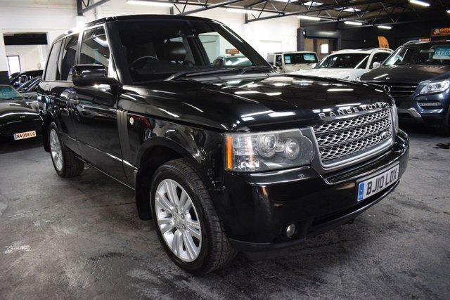 USED 2010 10 LAND ROVER RANGE ROVER 3.6 TDV8 VOGUE SE 5d AUTO 271 BHP LOVELY CONDITION THROUGHOUT - 7 STAMPS TO 98K - LEATHER - NAV - DUAL VIEW -  PRIVACY GLASS - HEATED SEATS
