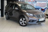 USED 2013 63 HONDA CR-V 2.2 I-DTEC EX 5d 148 BHP FULL SERVICE HISTORY + HEATED LEATHER SEATS + SAT NAV + BLUETOOTH + PAN ROOF + DAB RADIO + 18 INCH ALLOYS + XENONS