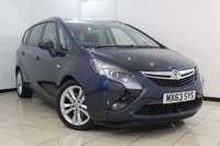 USED 2013 63 VAUXHALL ZAFIRA TOURER 2.0 SRI CDTI S/S 5DR 162 BHP LOW MILEAGE + AIR CONDITIONING + MULTI FUNCTION WHEEL + PARKING SENSORS + CRUISE CONTROL + ALLOY WHEELS