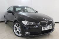 USED 2007 07 BMW 3 SERIES 3.0 330D SE 2DR AUTOMATIC 228 BHP BMW SERVICE HISTORY + MULTI FUNCTION WHEEL + BLUETOOTH + CRUISE CONTROL + CLIMATE CONTROL + ALLOY WHEELS