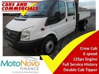 2014 FORD TRANSIT Tipper Double Cab 350 LWB 1-Way 125ps (1-Stop Body) £10500.00