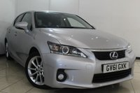 USED 2012 61 LEXUS CT 200H 1.8 200H SE-L 5DR AUTOMATIC 136 BHP BLUETOOTH + MULTI FUNCTION WHEEL + CLIMATE CONTROL + PARKING SENSORS + ALLOY WHEELS