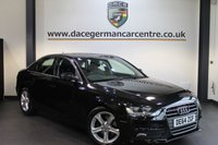 USED 2014 64 AUDI A4 2.0 TDI SE TECHNIK 4DR 134 BHP + FULL SERVICE HISTORY + 1 OWNER FROM NEW + SATELLITE NAVIGATION + FULL BLACK LEATHER INTERIOR + + BLUETOOTH + CRUISE CONTROL + PARKING SENSORS + 17 INCH ALLOY WHEELS