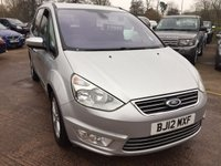 USED 2012 12 FORD GALAXY 1.6 TITANIUM TDCI 5d 115 BHP ONLY 57,000 MILES, FULL DEALER SERVICE HISTORY, ALLOY WHEELS, REAR PARKING SENSORS, STEERING WHEEL CONTROLS, CRUISE CONTROL, ELECTRIC FOLDING WING MIRRORS, AUTOMATIC LIGHTS, 7 SEATER, DUAL ZONE CLIMATE CONTROL