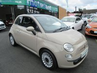 USED 2013 63 FIAT 500 1.2 LOUNGE 3d 69 BHP 12 MONTHS MOT... 6 MONTHS WARRANTY... FINANCE AVAILABLE