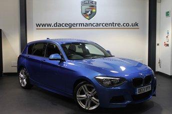 2013 BMW 1 SERIES 2.0 125D M SPORT 5DR AUTO 215 BHP £14470.00