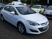 USED 2014 64 VAUXHALL ASTRA 1.6 SRI 5d AUTO 115 BHP Stunning white Astra SRi in immaculate condition.