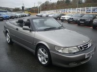 USED 2001 Y SAAB 9-3 2.0 AERO HOT 2d 205 BHP Black full leather, Carbon dashboard, new clutch in August 2016