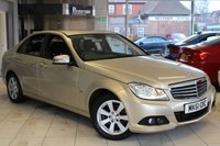 USED 2011 11 MERCEDES-BENZ C CLASS 2.1 C220 CDI BLUEEFFICIENCY SE EDITION 125 4d 170 BHP FULL MERCEDES BENZ SERVICE HISTORY +  PARKING GUIDANCE + CRUISE CONTROL + SAT NAV + £30 ROAD TAX + AUTOMATIC WIPERS