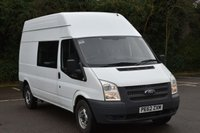 USED 2012 62 FORD TRANSIT 2.2 T350 RWD 5d 124 BHP LWB H/ ROOF 9 SEATER MESS/CREW VAN  1 OWNER,FSH,9 SEATER,LONG MOT,EURO 5 ENGINE