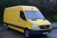 2011 MERCEDES-BENZ SPRINTER 2.1 313 CDI  5d 129 BHP LWB HIGH ROOF DIESEL MANUAL VAN  £4490.00