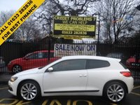 USED 2012 12 VOLKSWAGEN SCIROCCO 2.0 GT TDI BLUEMOTION TECHNOLOGY DSG 2d AUTO 140 BHP STUNNING CANDY WHITE, LOW MILEAGE, FULL DEALER SERVICE HISTORY, JUST BEEN SERVICED, STUNNING DSG AUTO GEARBOX.
