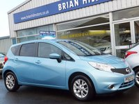 2014 NISSAN NOTE 1.2 ACENTA 5d   (New model) £7395.00