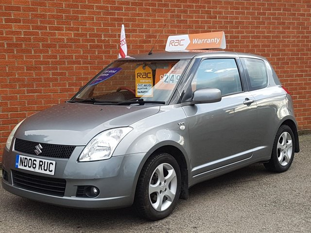 2006 06 SUZUKI SWIFT 1.5 GLX VVTS 3d BLACK LEATHER SEATS
