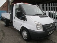 2012 FORD TRANSIT 350 Single Cab One Stop Alloy Tipper 100PS *TWIN REAR WHEELS* £11495.00