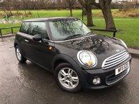 2011 MINI HATCH ONE 1.6 ONE 3d 98 BHP £5980.00