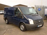 2012 FORD TRANSIT 2.2TDCi T260 SWB Low Roof  100 BHP - BLUE £6795.00
