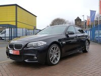 """USED 2011 11 BMW 5 SERIES 3.0 525D M SPORT 4d AUTO  FULL BMW SERVICE HISTORY ~ 20"""" ALLOYS ~ MEDIA PACKAGE ~ NAVIGATION ~ BLUETOOTH ~ PARK DISTANCE CONTROL ~ £9K OPTIONS"""