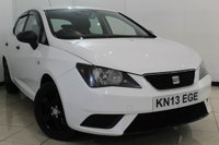 USED 2013 13 SEAT IBIZA 1.2 S A/C 5DR 69 BHP AIR CONDITIONING + RADIO/CD + AUXILIARY PORT + ELECTRIC WINDOWS + ALLOY WHEELS
