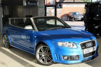 USED 2007 07 AUDI RS4 CABRIOLET 4.2 QUATTRO 2d 420 BHP HEATED BLACK LEATHER SPORT SEATS + FULL SERVICE HISTORY + SAT NAV + 19 INCH ALLOYS + BLUETOOTH + CRUISE CONTROL