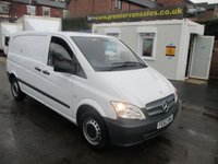 2012 MERCEDES-BENZ VITO 2.1 113 CDI COMPACT, 136 BHP, 6 SPEED, BLUETOOTH, CRUISE, AIR CON,TWIN SIDE DOORS, PARKING SENSORS, SECURITY LOCKS, EXCELLENT CONDITION £6995.00