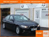USED 2013 63 BMW 3 SERIES 2.0 320D EFFICIENTDYNAMICS BUSINESS 4d 161 BHP Full leather-Bluetooth-Sat Nav -Parking sensors