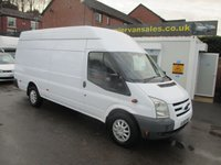 2010 FORD TRANSIT 2.4 350 TURBO DIESEL,  XLWB-  4M JUMBO VAN, ONE OWNER FROM NEW, WARRANTY GIVEN A PLEASURE £5995.00