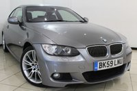 USED 2009 59 BMW 3 SERIES 3.0 325I M SPORT 2DR 215 BHP FULL SERVICE HISTORY + CLIMATE CONTROL + SAT NAVIGATION + PARKING SENSORS + ALLOY WHEELS