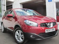 USED 2014 63 NISSAN QASHQAI 1.6 ACENTA 5d 117 BHP LOW MILEAGE+CRUISE+BLUETOOTH