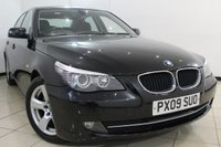 USED 2009 09 BMW 5 SERIES 2.0 520D SE 4DR 175 BHP CLIMATE CONTROL + SAT NAVIGATION + CRUISE CONTROL  +MULTI FUNCTION WHEEL + ALLOY WHEELS