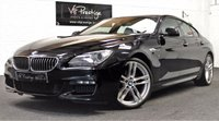 """USED 2013 63 BMW 6 SERIES 3.0 640D M SPORT GRAN COUPE 4d AUTO 309 BHP 20"""" ALLOYS-IVORY WHITE LEATHER"""