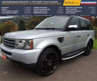 USED 2008 08 LAND ROVER RANGE ROVER SPORT 2.7 TDV6 SPORT S 5d AUTO 188 BHP 2008 RANGE ROVER SPORT 76000 MILES 22 INCH ALLOY WHEELSNEW MOT 8 SERVICE STAMPS