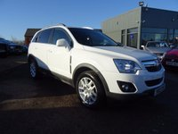 USED 2012 12 VAUXHALL ANTARA 2.2 EXCLUSIV CDTI 5d 161 BHP 1 OWNER SERVICE HISTORY LEATHER TRIM BEST COLOUR WHITE
