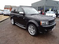 USED 2010 60 LAND ROVER RANGE ROVER SPORT 3.0 TDV6 HSE 5d AUTO 245 BHP FULL HSE SPECIFICATION, SAT NAV LEATHER TRIM, CRUISE CONTROL, ELECTRIC MEMORY SEATS  3 MAIN DEALER SERVICE STAMPS