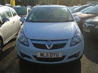 2011 VAUXHALL CORSA 1.2 SXI 5d 83 BHP £4699.00
